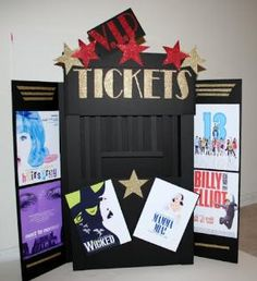 Party people celebration company special event decor for Broadway themed bedroom ideas