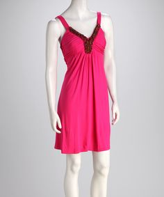 Pink Goan Beaded Dress