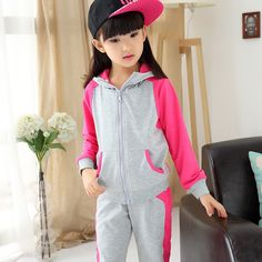 33.00$  Watch here - http://alicjc.shopchina.info/go.php?t=32726631490 - Kids girls cotton sets 2016 new baby girls 2pcs clothing fashion spring and autumn big virgin tracksuit for girls  #bestbuy