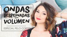 CÓMO HACER ONDAS CON VOLUMEN EN PELO CORTO | Messy con planchas