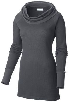With its active fit and wicking properties this waffle-knit, long-sleeve cowl-necked tunic easily transitions from the dining room to the dance hall. Super versatile and casual, this tunic is a great addition to any wardrobe.