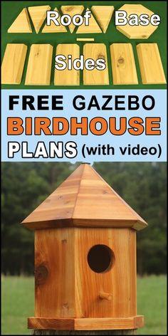 Wooden Bird Houses, Bird Houses Diy, Wooden House, Building Bird Houses, Wooden Bird Feeders, Bird Houses Painted, Wood Siding House, Bird House Plans Free, Bluebird House Plans