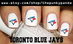 Buy 2 Get 1 Free  TORONTO BLUE Jays Nail Decals by ThePunkyPanda, $5.99