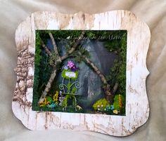 Fairy Garden Shadow Box by Cardinal on the Mantel