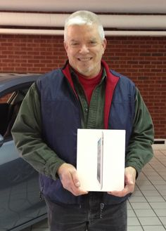 Congratulations to Paul! He won a new iPad in our Facebook contest