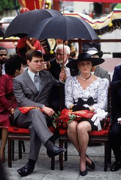 United States: Prince Andrew and his wife at the time, Sarah, Duchess of York, attended an event in LAs Chinatown in 1988.