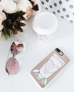 Casetify Classic Grip Case for iPhone 7 & 7 Plus (I Like You A Latte / Macaroons Pattern)
