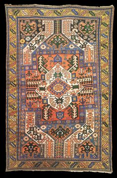 "Antique Karabagh ""Kasim Ushag"" rug, late 19th century, Elisabethpol Governorate (Елизаветпольская губерния), Zangezur Uyezd."