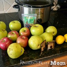 apple/pear sauce in the crockpot