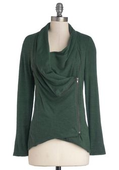 Airport Greeting Cardigan in Forest, @ModCloth