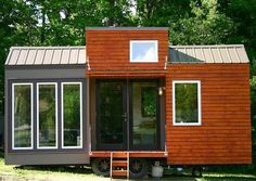 """Tiny Houses are not just for timy people, take this Tall Man's Tiny House built by two 6'7"""" brothers...  It's well designed, 130 square feet inside w/o including the sleeping loft. It's for sale for only $27,000."""