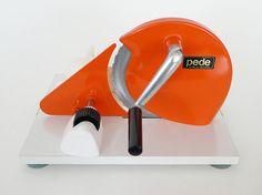 Manual Pede Kitchen Slicer / Orange Modern Dutch Hand by PopBam