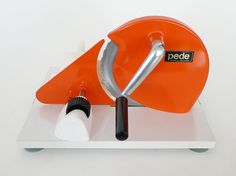 Manual Pede Kitchen Slicer / Orange Modern Dutch Hand by PopBam