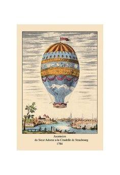 'Ascension - Citadelle De Strasbourg, 1784' Print (Unstretched Canvas Giclee 20x30)
