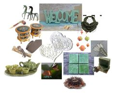 """Welcome"" by keepsakedesignbycmm ❤ liked on Polyvore featuring vintage"