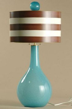 Titan Glass Table Lamp- great color combo