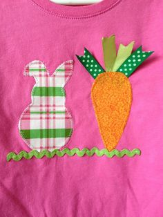 Easter Bunny and Carrot Applique Tshirt by melmason on Etsy, $18.00