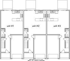 Triplex House Plans triplex house plans, small townhouse plans, triplex house plans