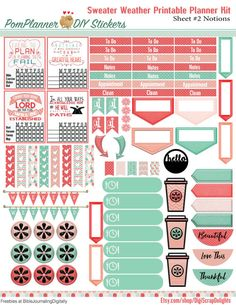 Sweater Weather Printable Planner Kit 5 PDFs by DigiScrapDelights