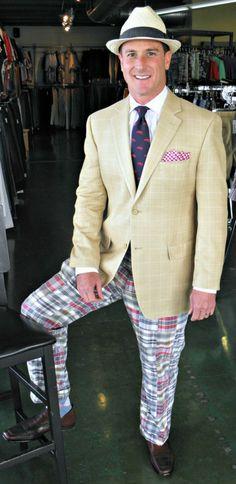 James wearing his Polo sport coat and Bills Khakis pants!