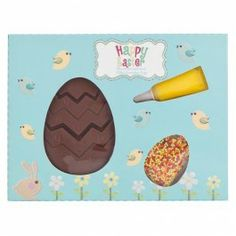 Create your own Easter egg patterns with this kit and chocolate egg. Easter Egg Pattern, Easter 2015, Baking Items, Cupcake Boxes, Crafty Kids, 70th Birthday, Bake Sale, Easter Crafts, Happy Easter