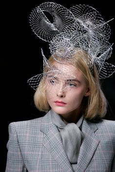 Snejana Onopka at Alexander McQueen Chanel Resort, Body Adornment, Fancy Hats, Haute Couture Fashion, Headgear, Headdress, Timeless Fashion, Wearable Art, Alexander Mcqueen