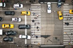 yellow + black + white intersection   NYC by navid j, via Flickr
