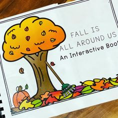 This image has an empty alt attribute; its file name is Fall Preschool, Preschool Books, Preschool Themes, Speech Therapy Activities, Language Activities, Speech Language Therapy, Speech And Language, Speech Pathology, Interactive Books For Preschoolers