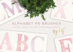 Photoshop Brushes Alphabet Painted by By Lef on @creativework247