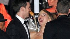 Inside Jennifer Lawrence and Nicholas Hoult's Golden Globes Date Night Nicholas Hoult, Golden Globes, Jennifer Lawrence, Dating, Night, Funny, Wall, Fictional Characters, Quotes