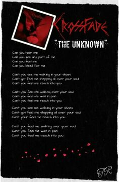 """Crossfade  """"The Unknown""""   #Crossfade"""