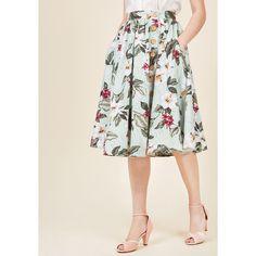 She's All Tiki Midi Skirt (3.955 RUB) ❤ liked on Polyvore featuring skirts, apparel, bottoms, full skirt, varies, pocket skirt, patterned midi skirt, print midi skirt, mid calf skirts and print skirt