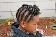Flat Rope Twists and Top-Twist Ponytail   Chocolate Hair / Vanilla Care