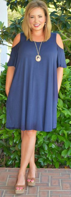 Perfectly Priscilla Boutique - On Birds Wings Dress - Navy, $44.00 (http://www.perfectlypriscilla.com/on-birds-wings-dress-navy/)