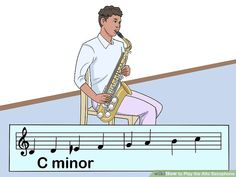 How to Play the Alto Saxophone (with Pictures) - wikiHow Saxophone Sheet Music, Clarinet, Smooth Jazz, Good Posture, Gibson Les Paul, Custom Guitars, Van Halen, Indie Music, Outlander Series