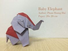 Tutorial- How to make Baby Elephant - Phạm Hoàng Hải by PaperPh2 - YouTube                                                                                                                                                      More