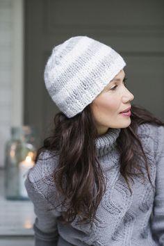 Beanie and hat patterns by Novita, Beanie made with Novita Heijastus yarn #novitaknits #knitting #knit https://www.novitaknits.com/en