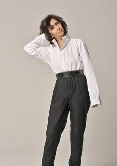 Dina Haidar wears the LY Liwan shirt Showcase Design, Paris, Suits, How To Wear, Fashion, Moda, Montmartre Paris, Fashion Styles, Paris France