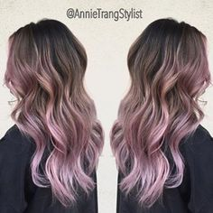 lilac balayage brown hair - Google Search