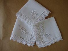 guardanapo bordado de tecido