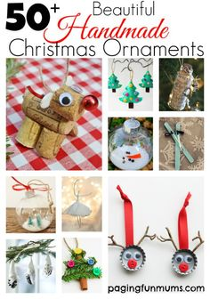 Beautiful Handmade Christmas Ornaments! Just soooo adorable!