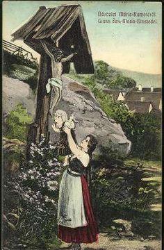 Üdvözlőlap Hungary, Budapest, Illustration, Jesus Cross, Retro, Daughter, Travel, Posters, Painting