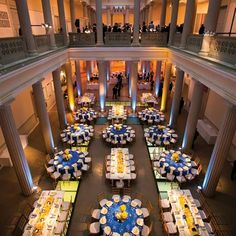 I like layout of round tables and rectangular tables