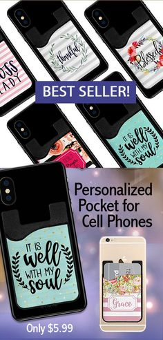 Sometimes all I want to do is carry my phone and a credit card. This fills that role while looking cute ~ and the price is very reasonable! Pick a design, or personalize it too. Great gift idea. #cellphonesaccessories #gift #personalize #personalizegift #ad