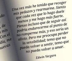 〽️ Temo que no pueda volver a amar. Edwin Vergara