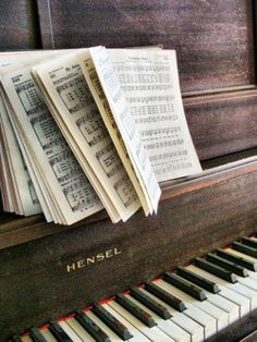 This picture describes me because I have been teaching myself piano for about 7 months. I chose this specific picture because it has a hymn book, which is what I play mostly considering I play for church. I hope one day to be able to play fluently, by ear.