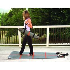 Made from eco-conscious and recyclable PVC, the A-Line Exercise Mat from YogaForce features bright and bold alignment lines on a unique, tapered yoga/Pilates mat that was designed to match the width of your shoulders.