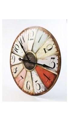 Retro Style Large Multicoloured Clock @ rosefields.co.uk