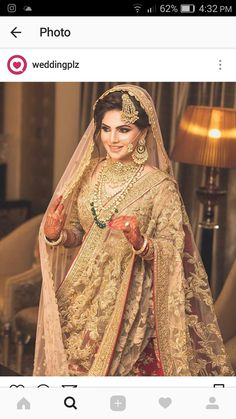 Pakistani bridal wearing You are in the right place about Bridal Outfit winter Here we offer you the most beautiful pictures about the Bridal Outfit street styles you are looking for. When you examine Indian Bridal Fashion, Pakistani Wedding Dresses, Indian Wedding Outfits, Bridal Outfits, Wedding Hijab, Indian Dresses, Indian Outfits, Beautiful Bridal Dresses, Wedding Dresses For Girls