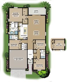 Trevi floor plan with bedroom or den!